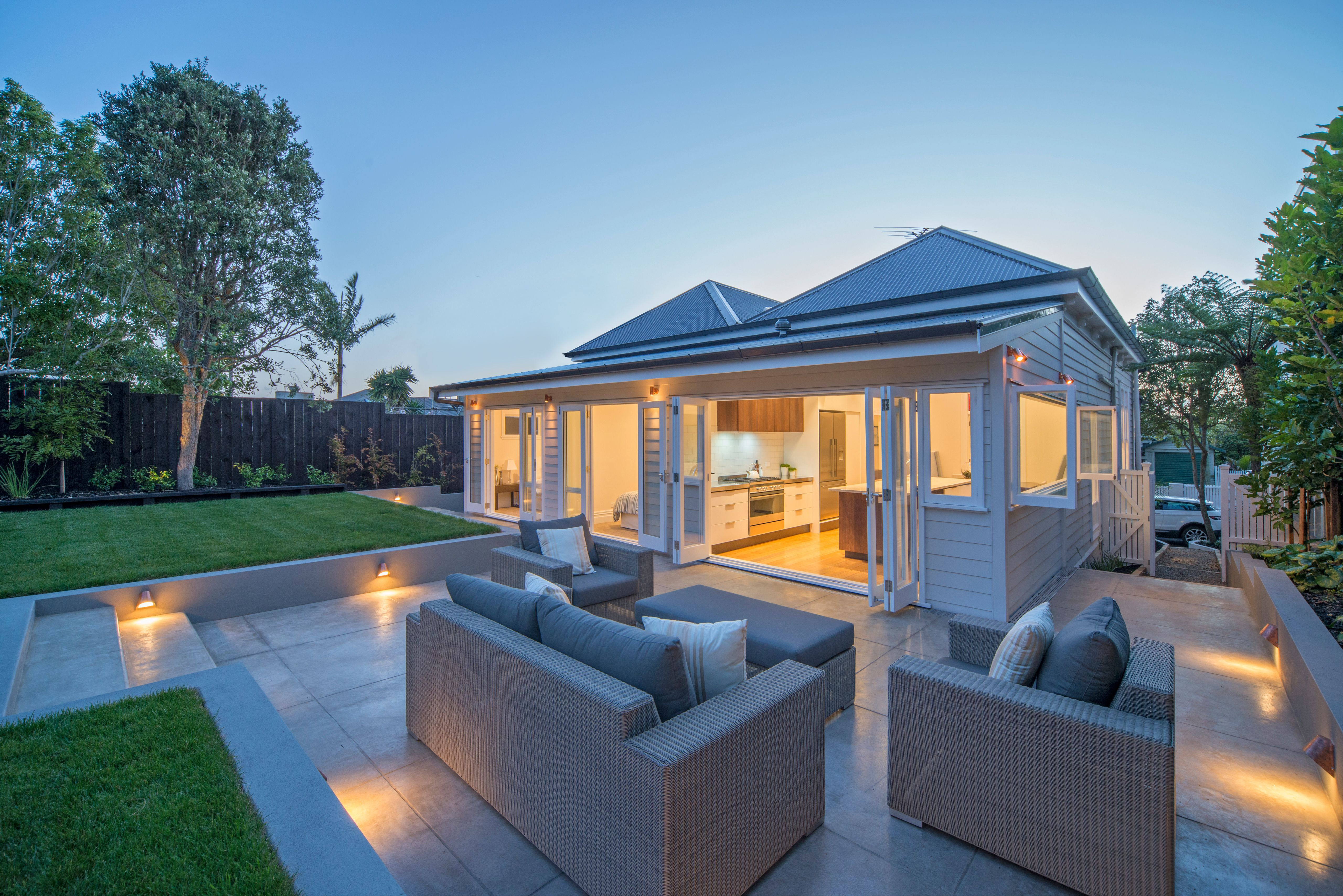 The Living Pavillion Summer Home Weatherboard House