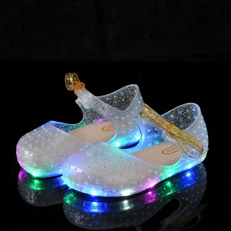 Mini Melissa LED Sandals Crystal Shoes