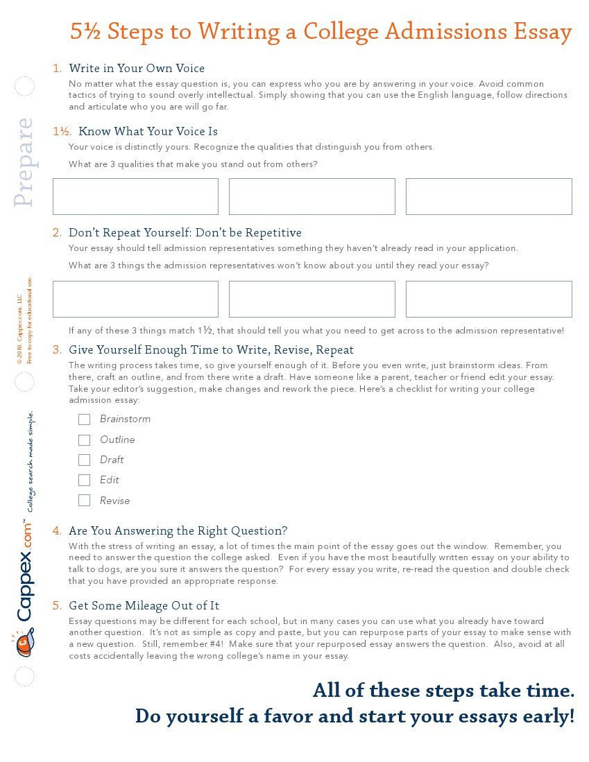 5 steps to writing a college admissions essay advice college 5 steps to writing a college admissions essay thecheapjerseys Gallery