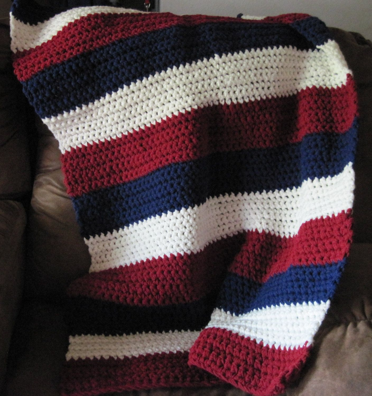 Crochet Patriotic Lapghan-Afghan, Handmade USA. $40.00, via Etsy ...
