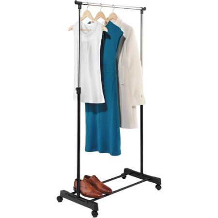 Walmart Clothes Hanger Rack Captivating Honey Can Do Adjustable Height Garment Rack Chromeblack  Walmart Review