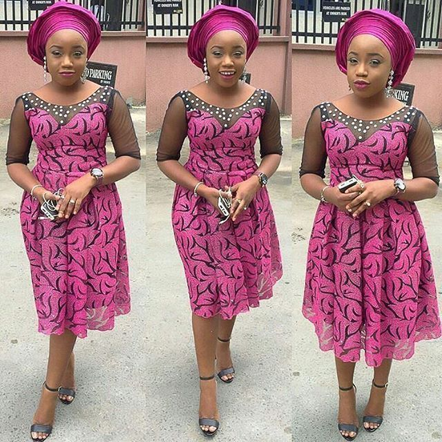 nigerian lace short gown styles 7 | blossomjenny | Pinterest ...