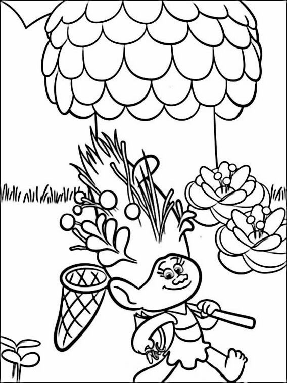Trolls Coloring Pages 6 | coloring pages | Pinterest | Actividades ...