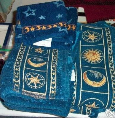 Celestial Star Sun Moon Towel Set Bath Hand Wash 18736706 With Images Moon Towel Towel Set Stars