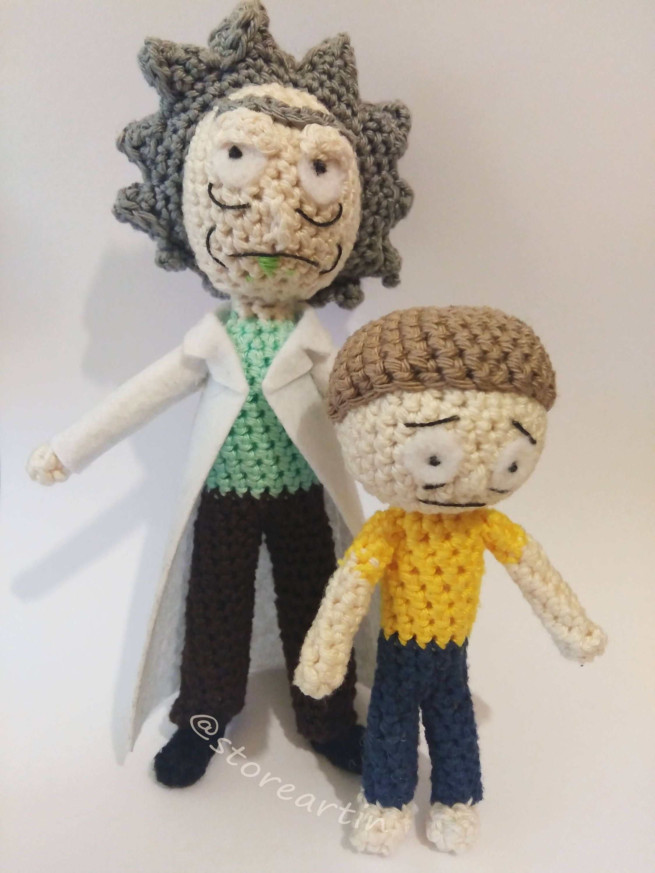 Rick and Morty Rick Sanchez Amigurumi by crushed88 on Etsy | Crochet  amigurumi, Crochet patterns, Crochet projects | 3000x2250