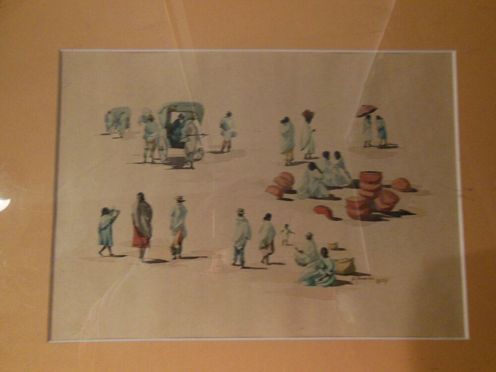 A Ranaivo Africaniste Aquarelle Ou Gouache Signee Et Datee 1929