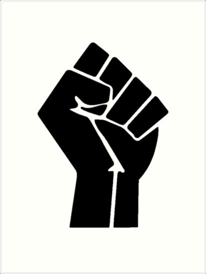 Raised Fist Black Power Symbol Best Tshirt Art Prints By Kaviahay Redbubble Black Power Symbol Black Lives Matter Art Black Lives Matter Poster