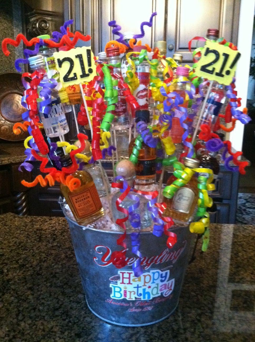 21st Birthday Basket! 21st birthday basket, Birthday