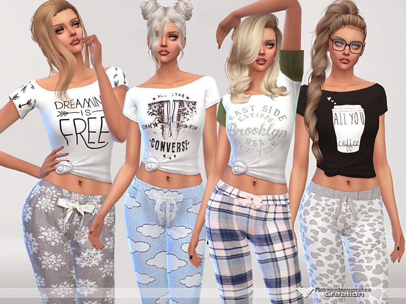 'sims In Female Tsr Found Sleepwear Styles Category 4 Modern PCgwYqO1S