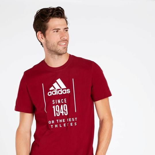 camiseta adidas originals hombre granate