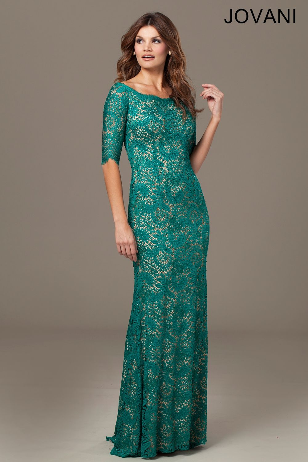 Jovani Boat Neck Lace Dress 25460. Stunning Mother of the Bride ...