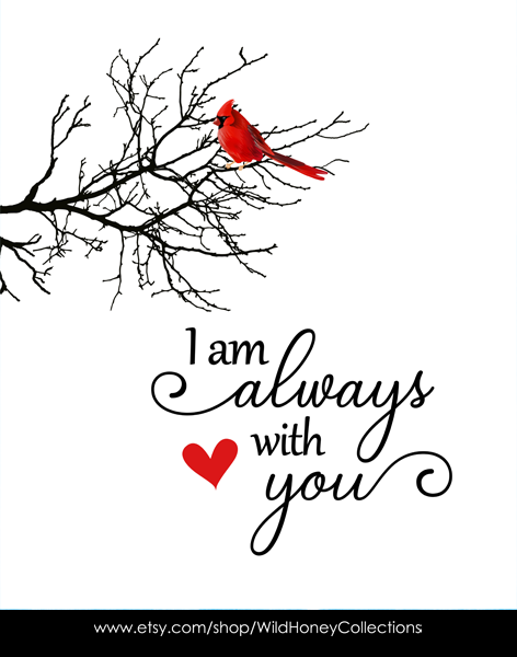 Download Get I Am Always With You Cardinal Free Svg Background