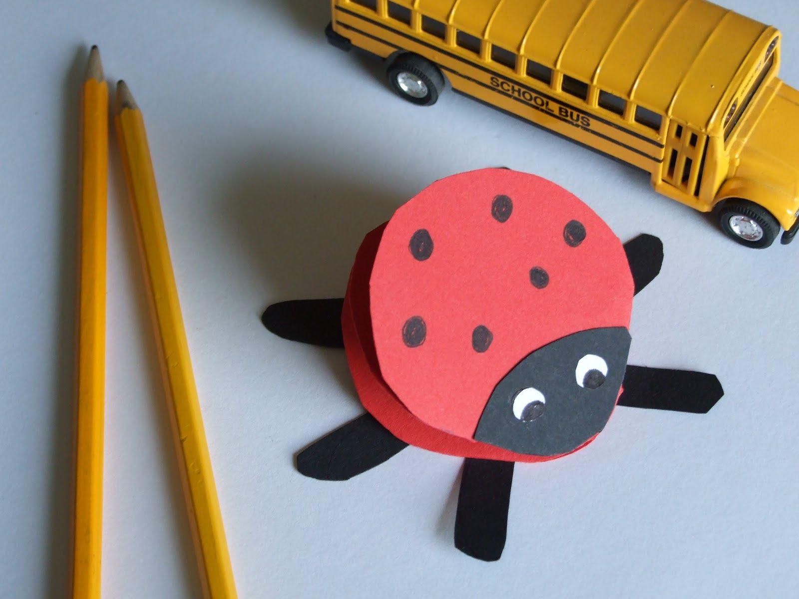 Construction Paper Craft Ideas For Kids Part - 20: Construction Paper Crafts | Easy Crafts For Kids: Paper Ladybug