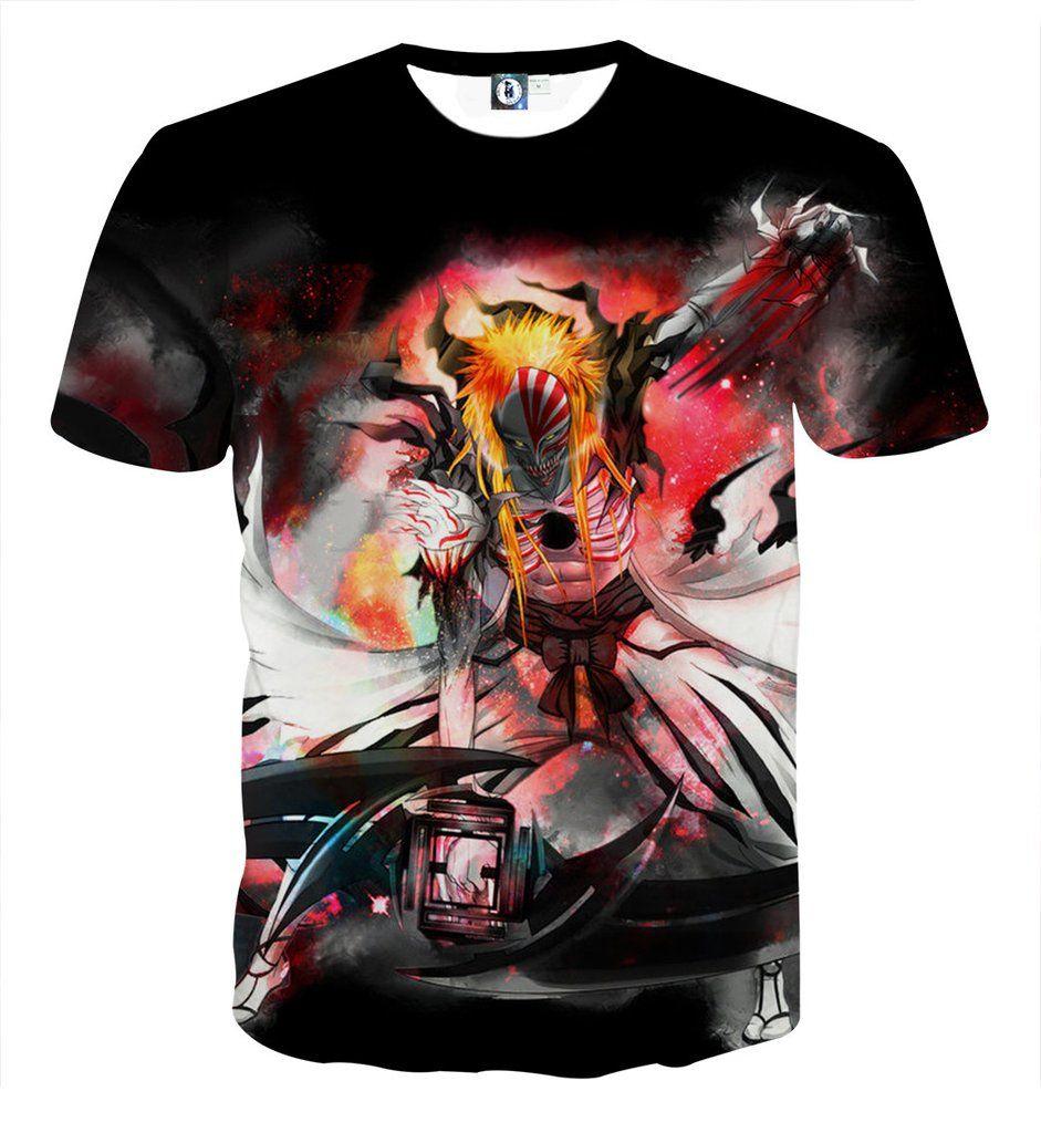 Bleach hollow ichigo mask fantasy fan art full print t