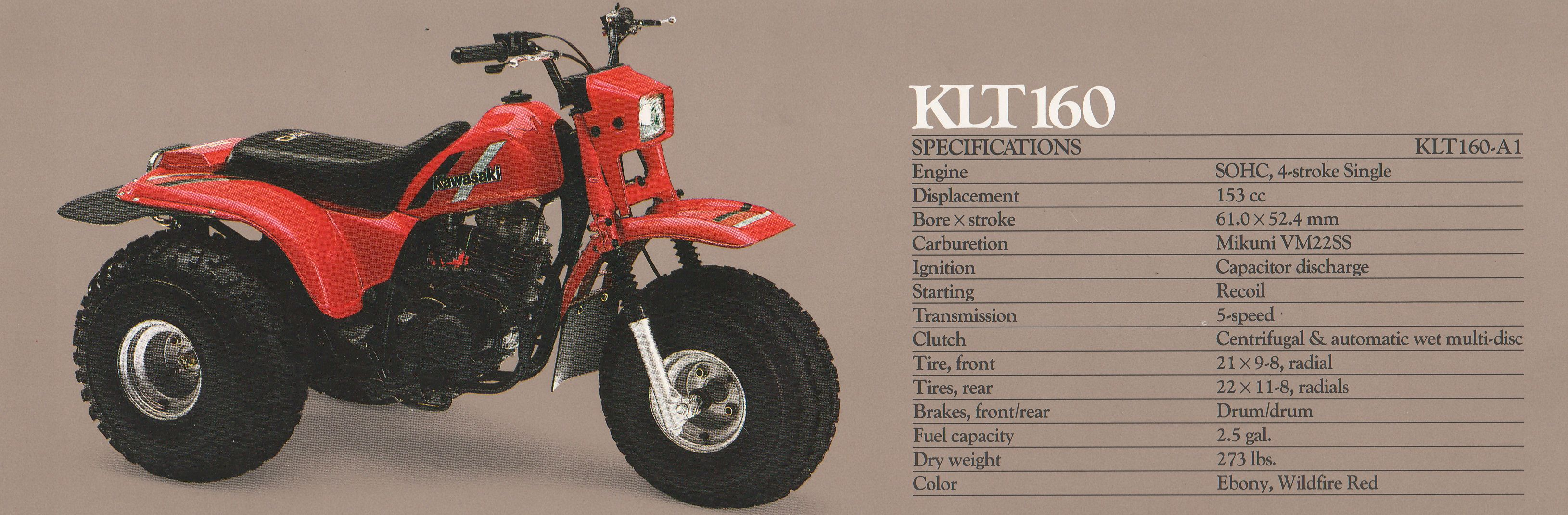 Kawasaki #KLT160 Three Wheeler