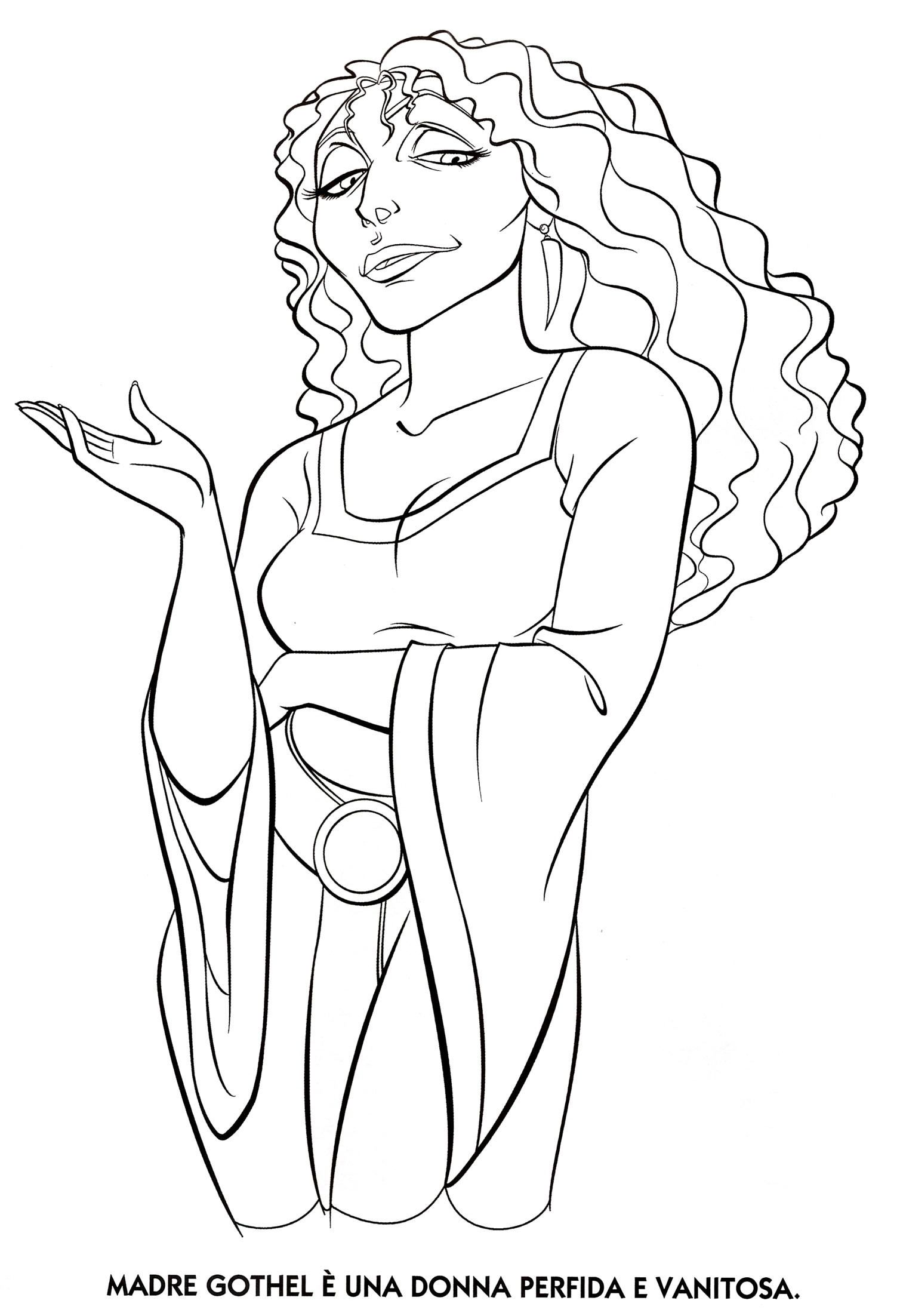 coloring sheets dice mother gothel dibujojpg 15082204