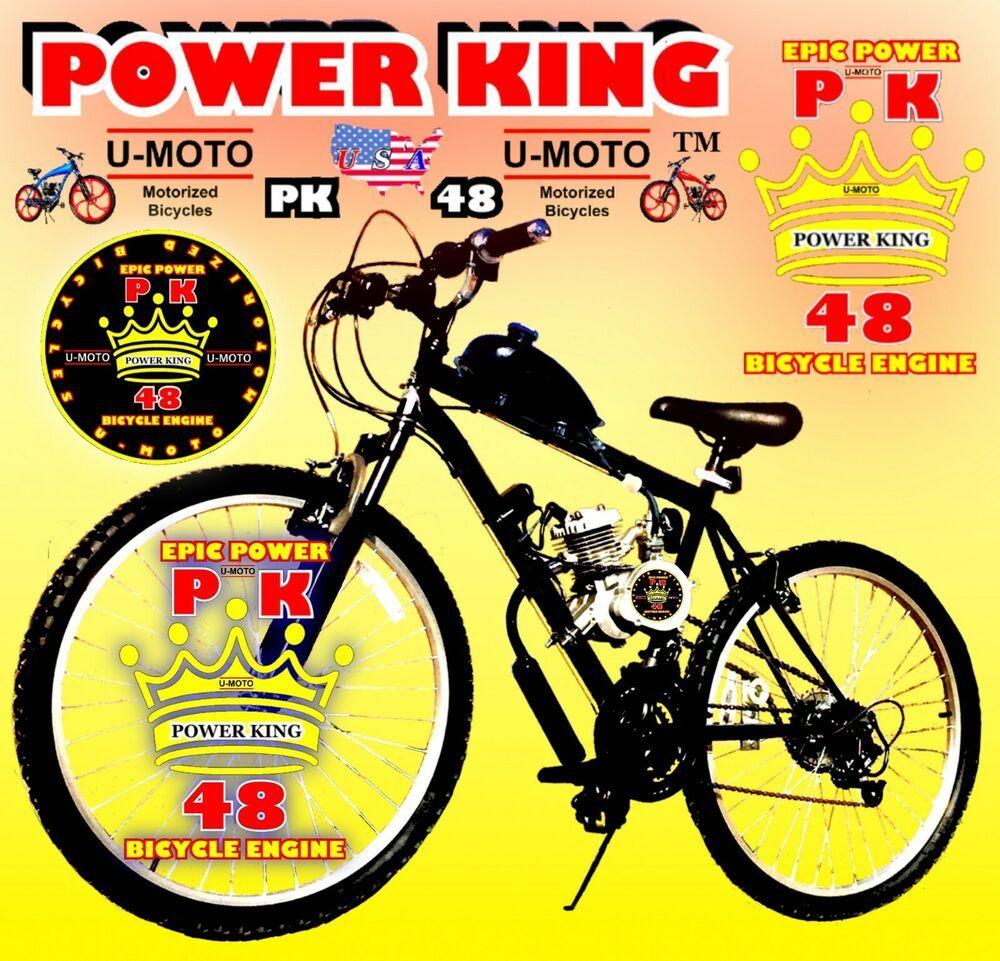 Details About Diy 48cc 66cc 80cc 2 Stroke Motorized Bike Kit 26
