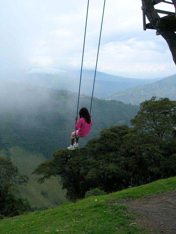 d5240c3df The Swing at the End of the World, Baños, Ecuador - Playscapes | Fairy  Tales | Columpios, Mundo, Casa del arbol