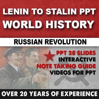 lenin to stalin ppt world history world history tpt teachers pay