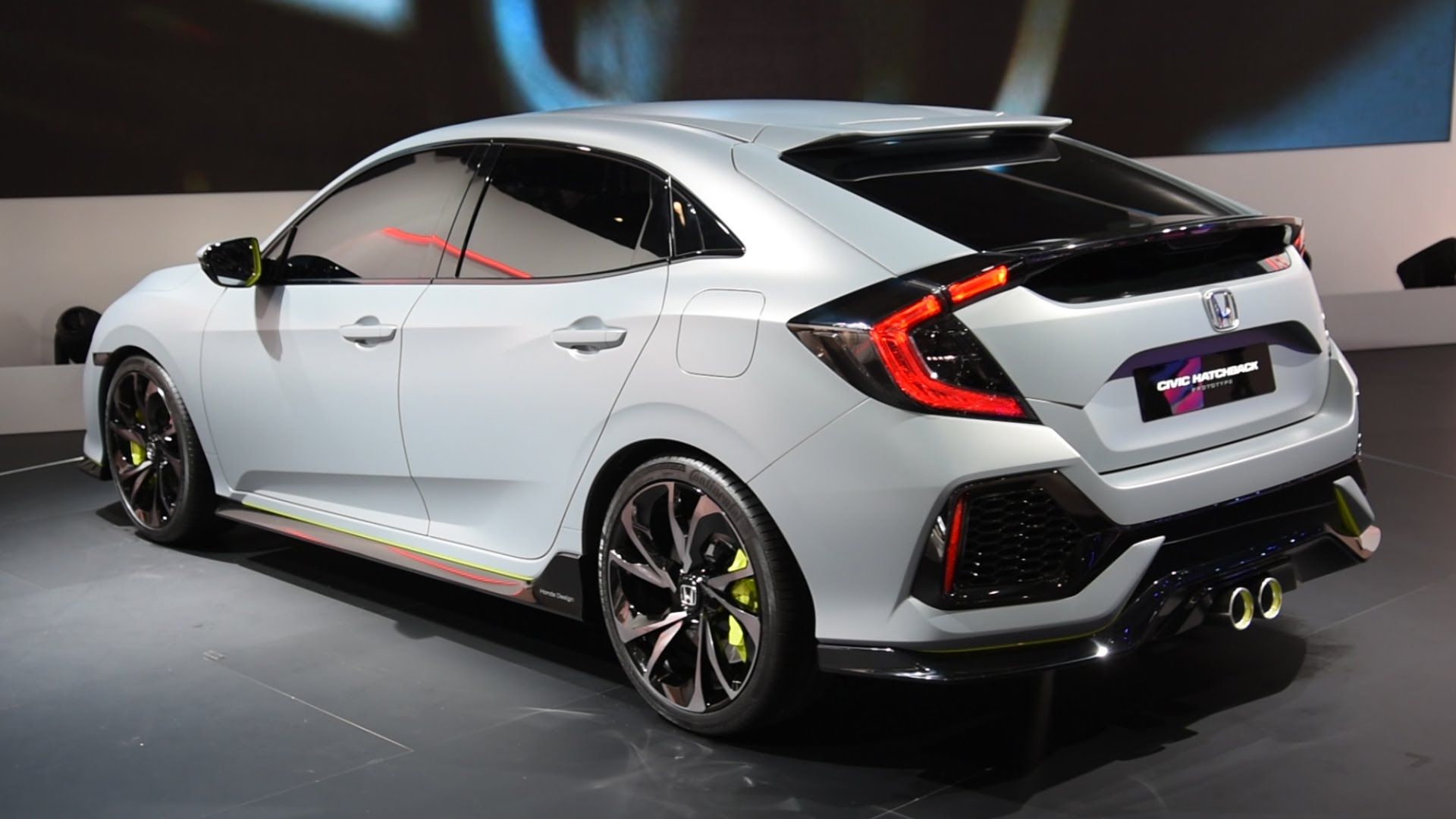 2017 honda civic hatchback prototype first look 2016 geneva motor show