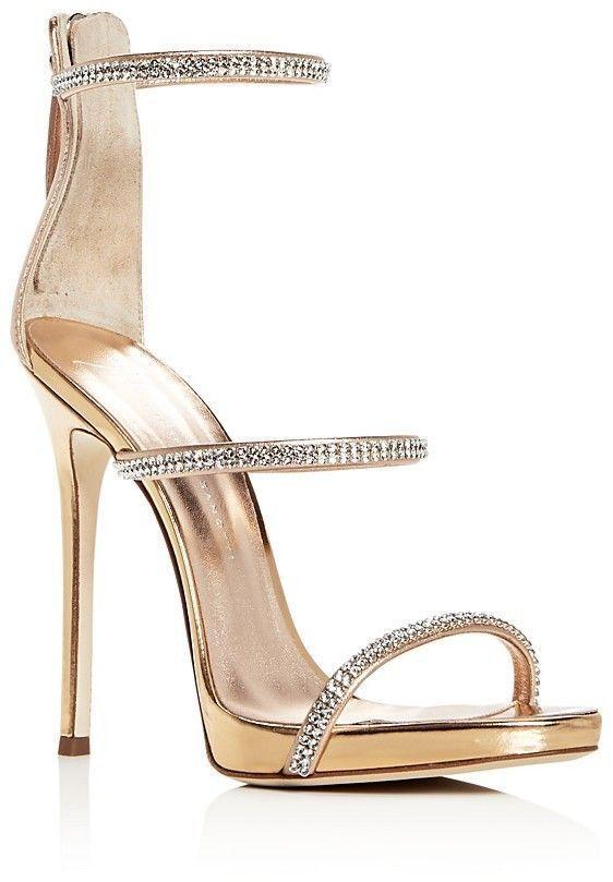 Giuseppe Zanotti Women's Coline Embellished Leather Strappy High-Heel Sandals Bssaj