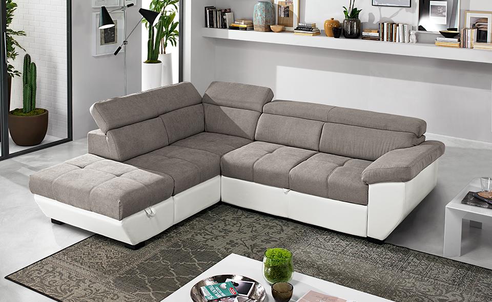 Divano friheten ~ Speedway similpelle bianco tessuto elephant è un divano letto