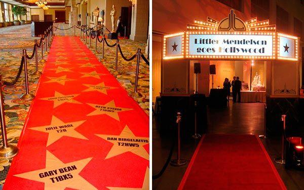 El Paseo De La Fama En Tu Fiesta Decoraciones De Hollywood Fiesta De Hollywood Fiesta Tematica Hollywood