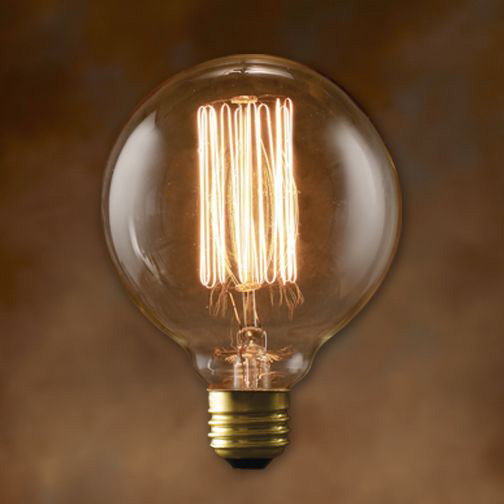 G30 Antique Light Bulb 40 Watt 3000 Hours 130 Lumens Globe Light Bulbs Antique Light Bulbs Vintage Bulb
