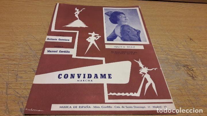 PARTITURA / CONVIDAME ( MARCHA ) MANUEL GORDILLO. MÚSICA DE ESPAÑA - 1963.