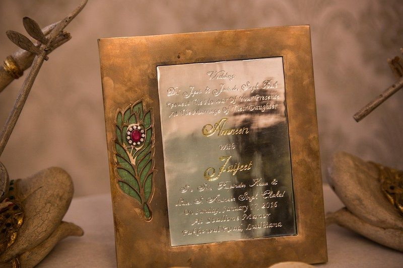 Bronze And Silver Wedding Invitation Amreen Jaijeet Indian Wedding Blog T Wedding Invitations Stationery Silver Wedding Invitations Wedding Invitations