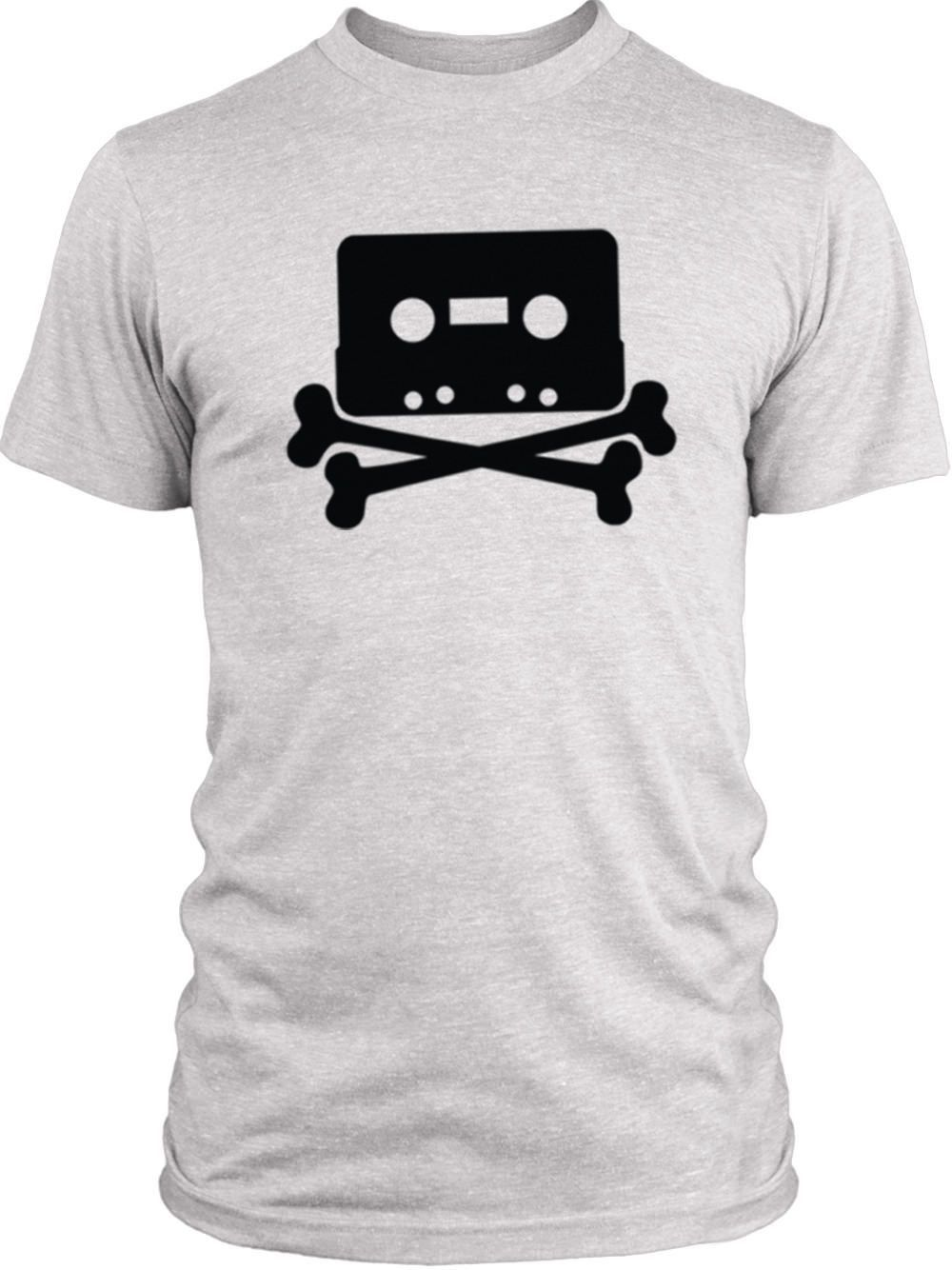 Big Texas The Pirate Bay Tape n Crossbones (Black) Vintage Tri-Blend T-Shirt