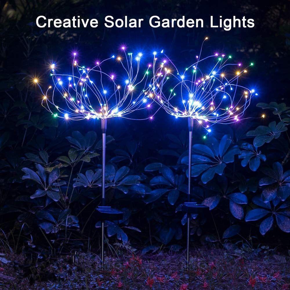 2 X Solar Feuerwerk Licht 120led Solarleuchte Garten Wasserdicht Ipx7 40kupferdrahte Landschaftslicht Diy Drau In 2020 Solarleuchten Solarleuchten Garten Baume Garten