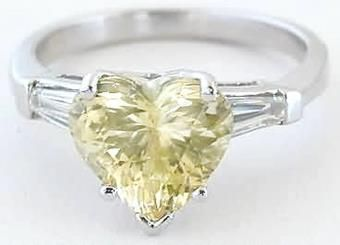 4.3 CT Natural Yellow Sapphire Solitaire Gorgeous Ring Unheated Earth Mined Rectangle Ceylon Sapphire Engagement Valentine Day Gift Ring