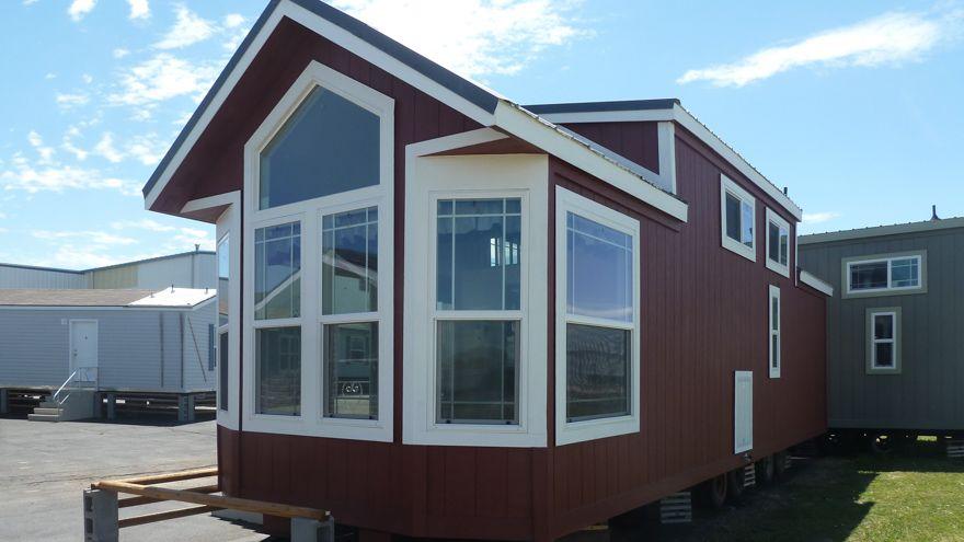 Features Include Open Kitchen 2 Window Box Bay Single Loft Stairwell Clerestory Windows Pentazoid Window 2 Park Model Homes Park Model Rv Park Models