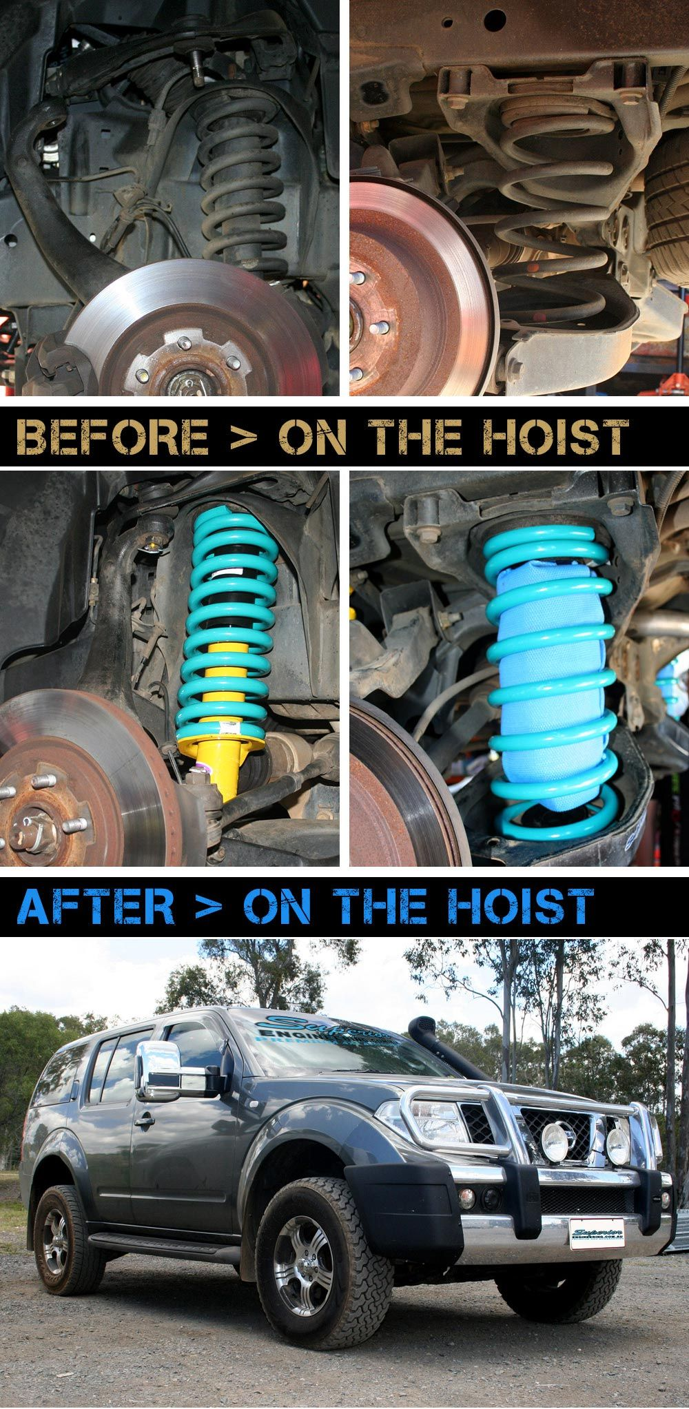 Check out whats on the hoist nissan pathfinder r51 fitted with nissan pathfinder r51 fitted with 40mm superior lift kit vanachro Images