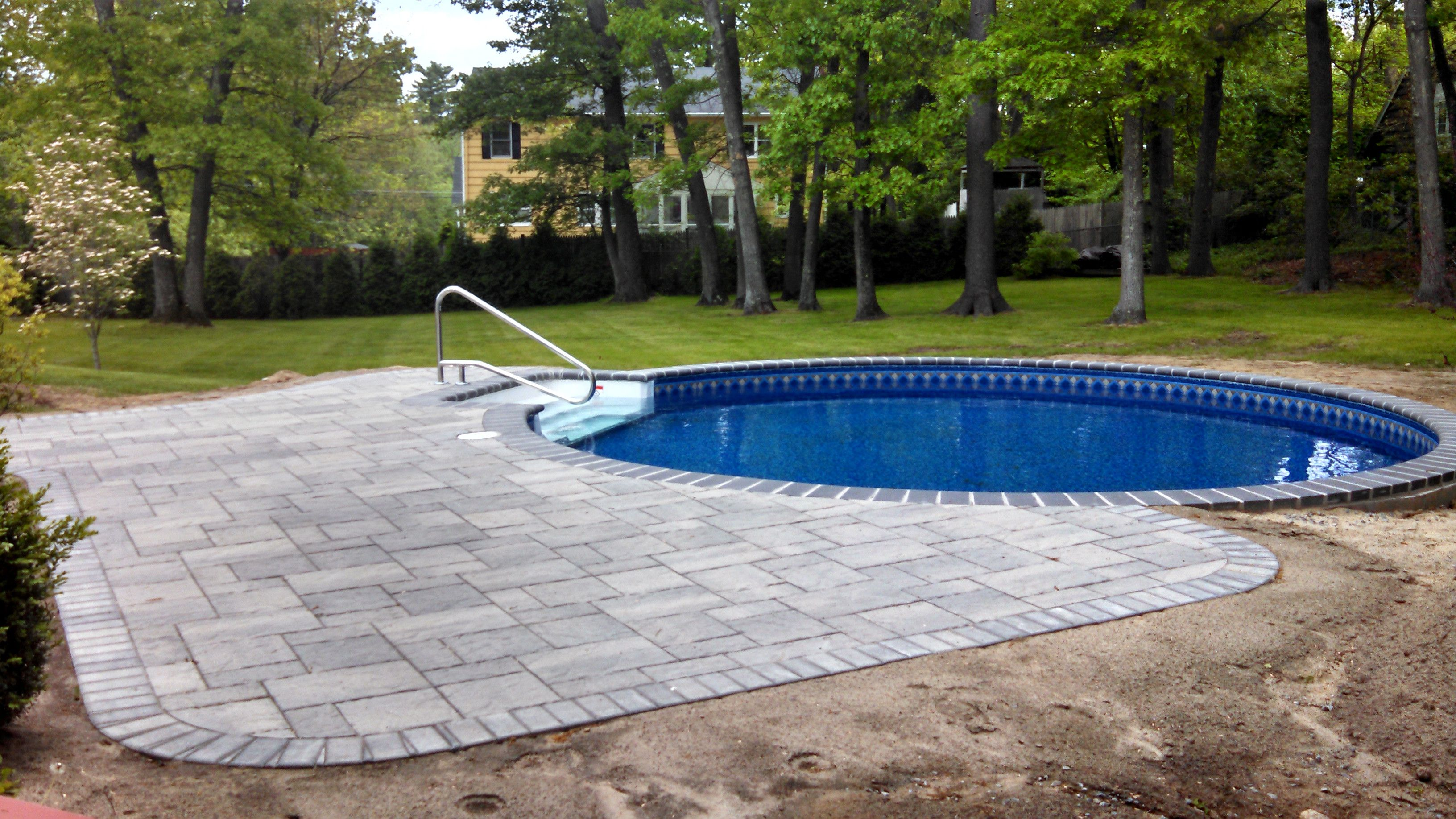 Chelmsford Ma Inground Swimming Pool Matley Swimming Pools And Spas Radiant Pools Backyard Pool Landscaping Backyard Pool