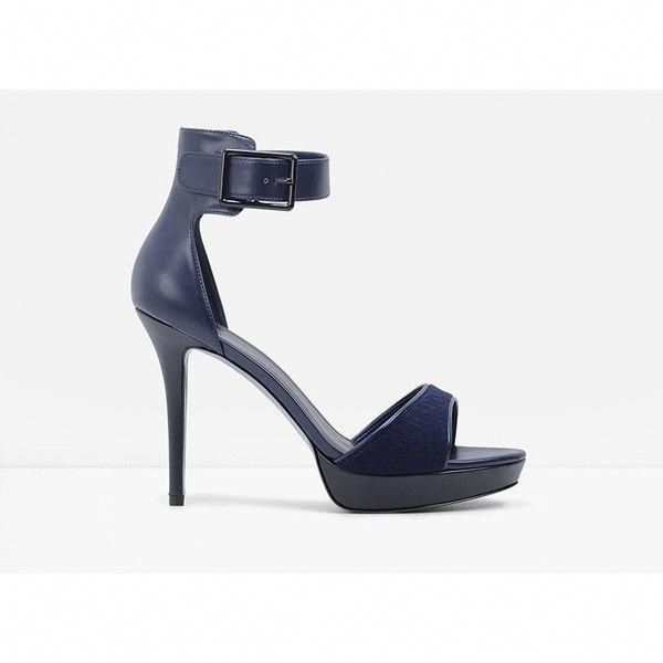 257102ee9719 CHARLES   KEITH Ankle Strap Platform Heels (1.008.710 IDR) ❤ liked on  Polyvore featuring shoes