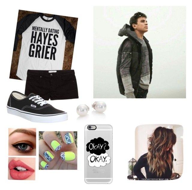 """Hayes Grier<3"" by shawnmendes30 ❤ liked on Polyvore featuring Aéropostale, MANGO, Vans, Charlotte Tilbury, Mikimoto, Casetify, women's clothing, women's fashion, women and female"