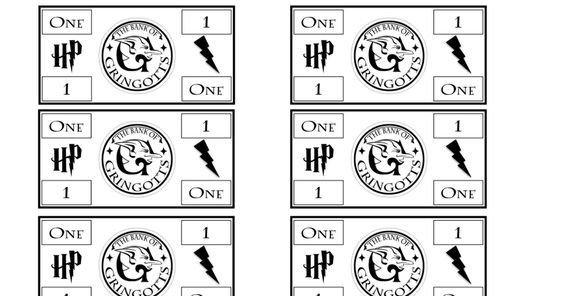 Harry Potter Monopoly Money Pdf Harry Potter Geschenke Monopoly Vorlagen
