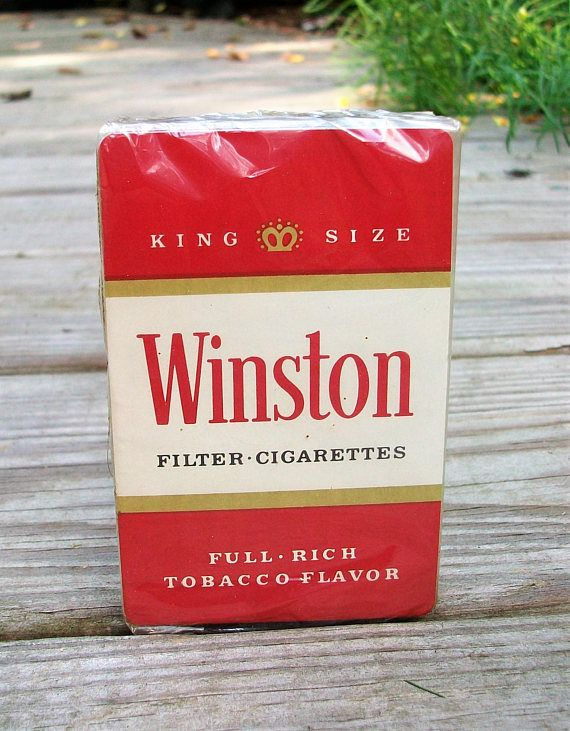 Vintage Winston Cigarettes Card Deck Advertising Playing Cards