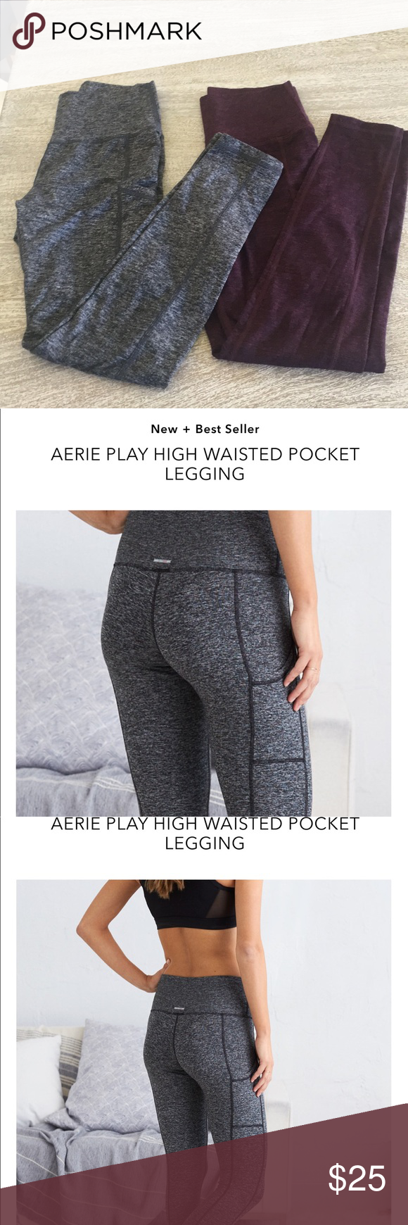 a520f3e06fa8b 2 for 1! Aerie play high waisted pocket legging in 2018 | My Posh Picks