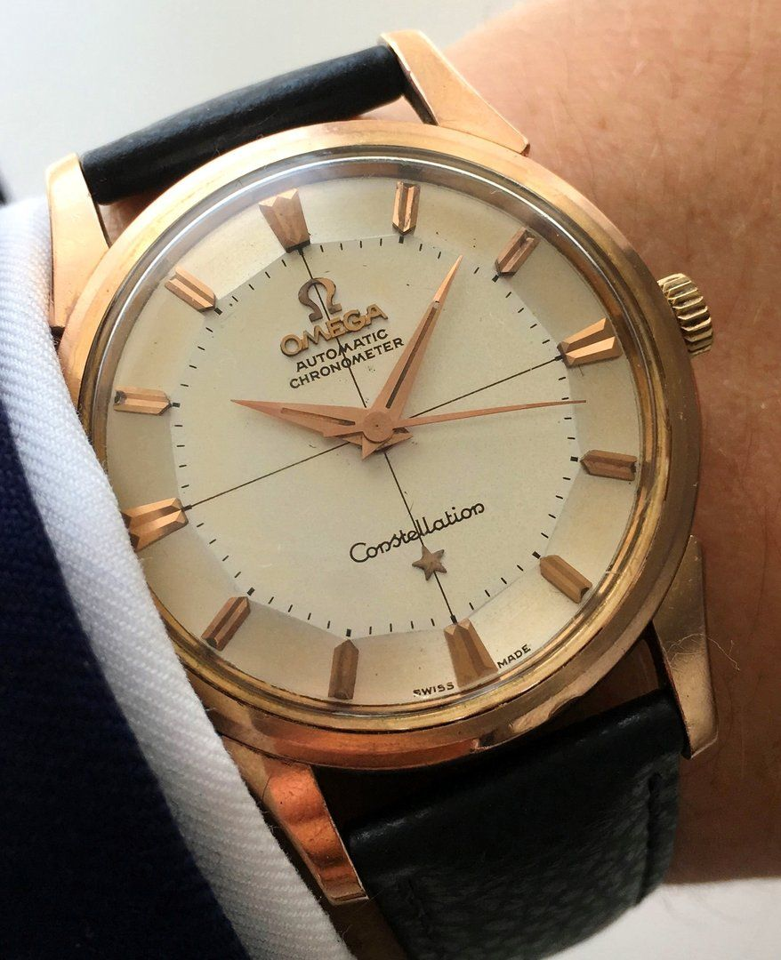 ff5c724e44a Omega Constellation Pie Pan Automatik Automatic pink rose gold Omega Do  Vintage