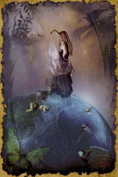 MD- XXI - The World, The Mystic Dreamer Tarot * by Barbara