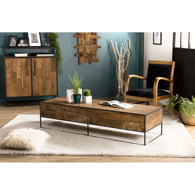 Table Basse Rectangulaire Style Atelier Swing Bois Clair Pier Import La Redoute Table Basse Rectangulaire Table Basse Decoration Maison