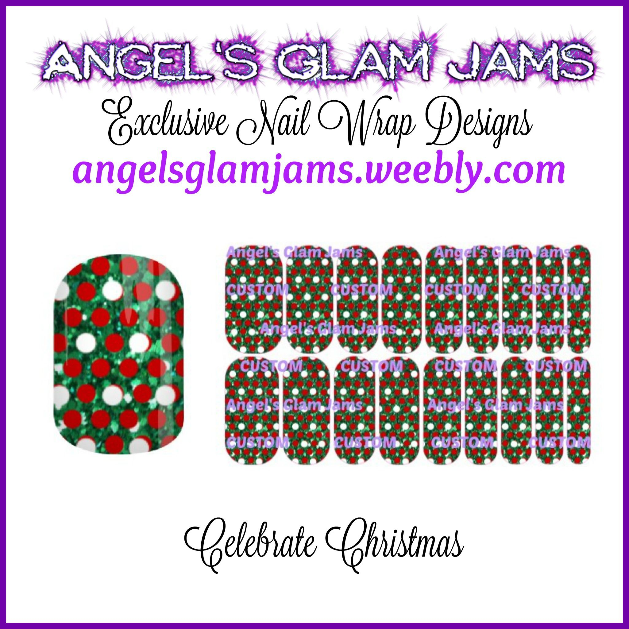 Celebrate Christmas Jamberry Nail Wraps By Angel's Glam