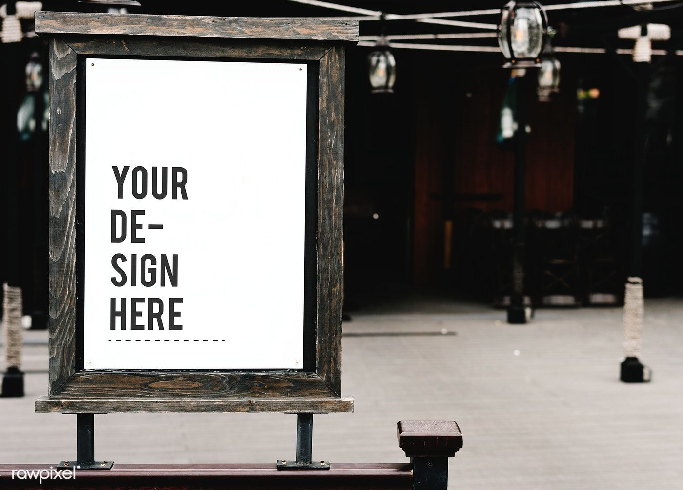 Rustic Wooden Signboard Mockup At A Restaurant Free Image By Rawpixel Com Jira Design Mockup Free Signboard Business Card Mock Up