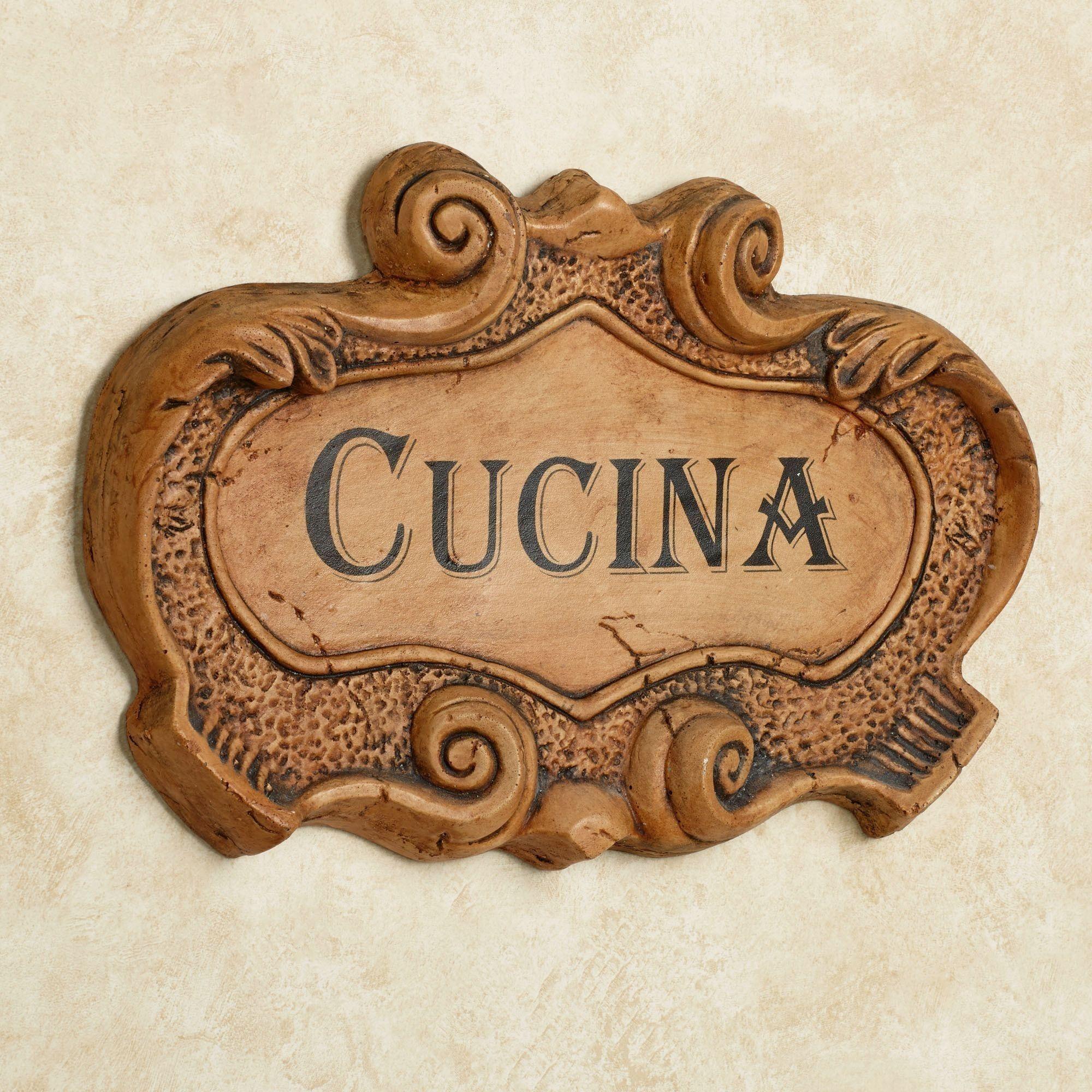Italian Kitchen Wall Plaques