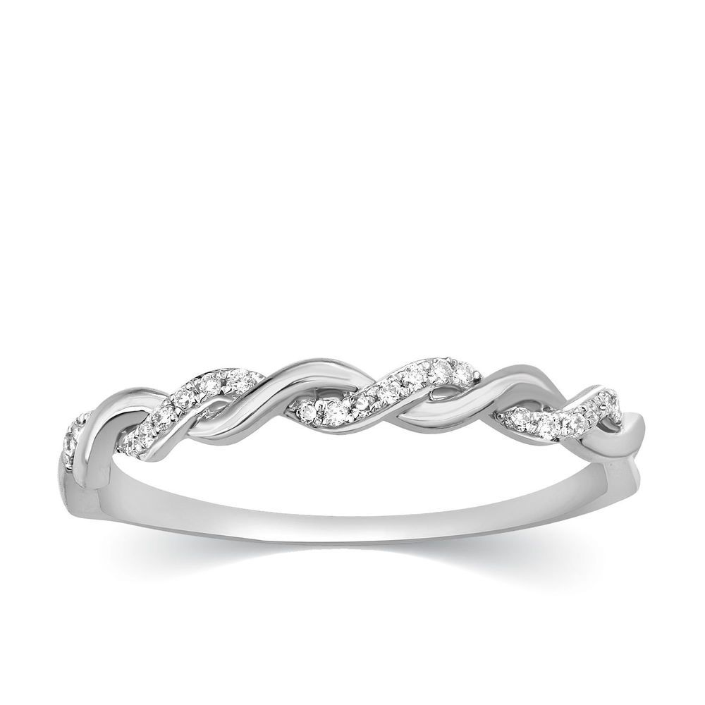 weave wedding natural infinity band diamond bands ring anniversary