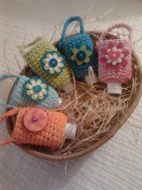 Ediebeadie S Hand Sanitizer Cozy Crochet Keyring Free Pattern