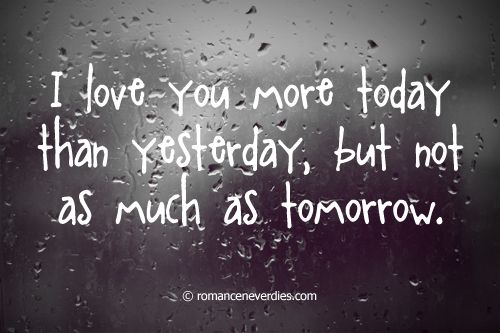 I Love You More Today Than Yesterday Love Quote